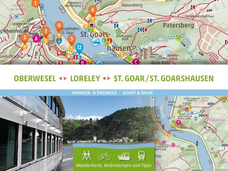 Wanderkarte Sankt Goar Oberwesel Loreley